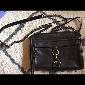 Rebecca Minkoff Mini MAC Iridescent Oil Slick Bag